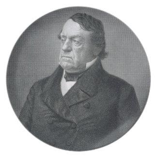 Lewis Cass, grabado por Guillermo G. Jackman (fl.c Platos De Comidas