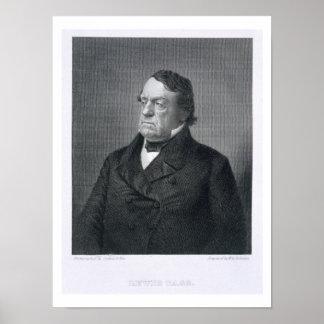 Lewis Cass, grabado por Guillermo G. Jackman (fl.c Póster