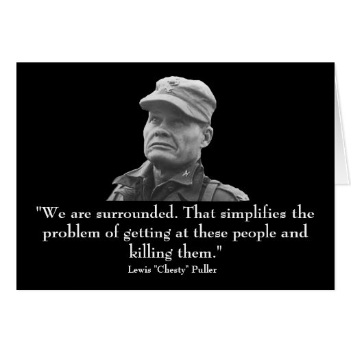 """Lewis """"Chesty"""" Puller Greeting Card"""