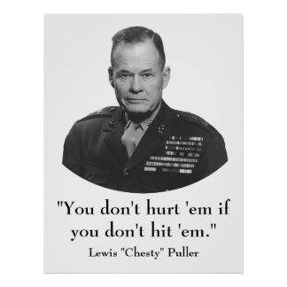 """Lewis """"Chesty"""" Puller Poster"""