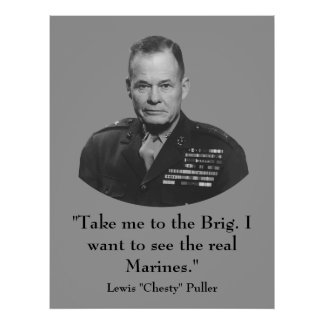"Lewis ""Chesty"" Puller -- War Hero Poster"
