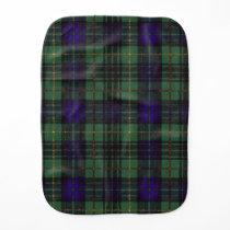 Lewis clan Plaid Scottish kilt tartan Burp Cloth