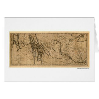 Lewis & Clark Expedition Map - 1804 Card