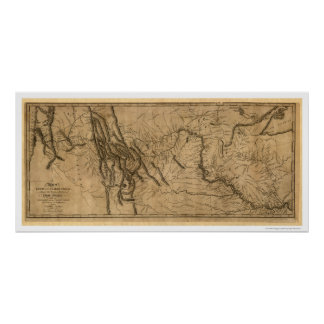 Lewis & Clark Expedition Map - 1804 Poster
