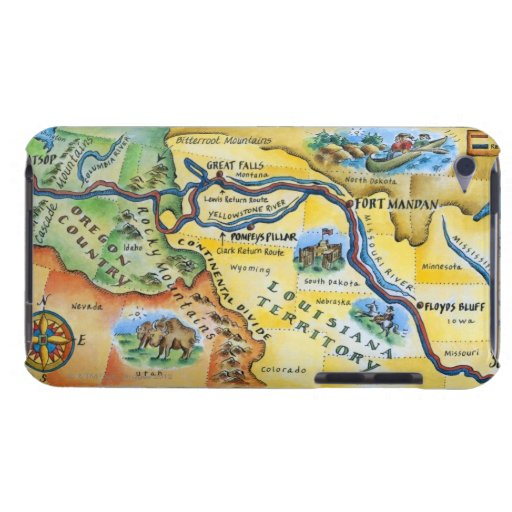 Lewis & Clark Expedition Map Barely There iPod Cover