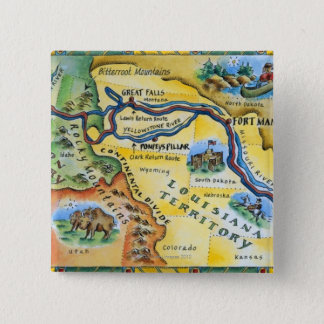 Lewis & Clark Expedition Map Button