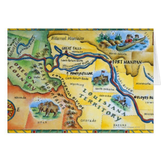 Lewis & Clark Expedition Map Card