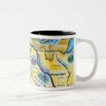 Lewis & Clark Expedition Map Coffee Mugs