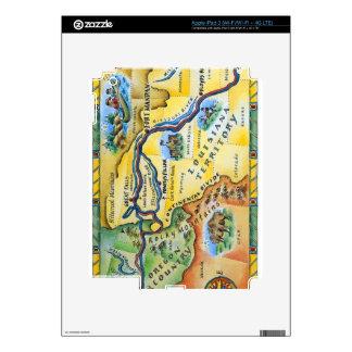 Lewis & Clark Expedition Map iPad 3 Skin