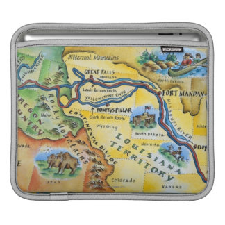 Lewis & Clark Expedition Map iPad Sleeve