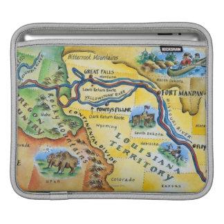 Lewis & Clark Expedition Map iPad Sleeve