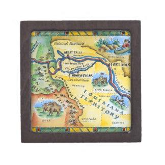 Lewis & Clark Expedition Map Keepsake Box