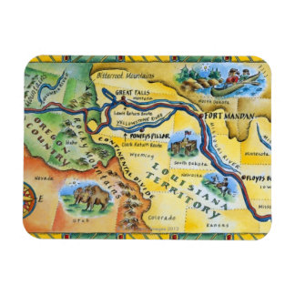 Lewis & Clark Expedition Map Magnet