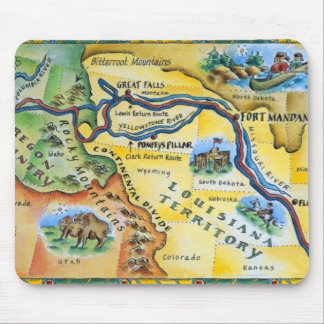 Lewis & Clark Expedition Map Mouse Pad