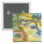 Lewis & Clark Expedition Map Pinback Button