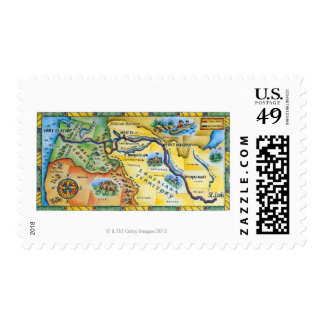 Lewis & Clark Expedition Map Postage