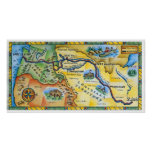 Lewis & Clark Expedition Map Poster
