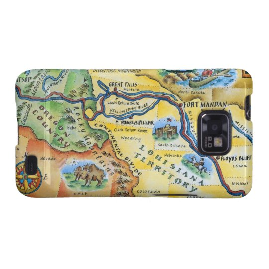 Lewis & Clark Expedition Map Samsung Galaxy S2 Case