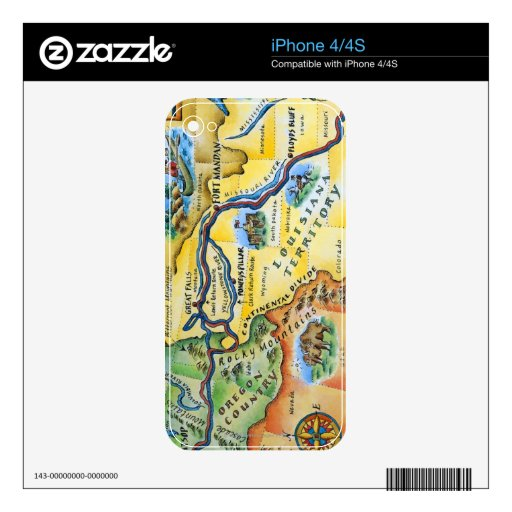 Lewis & Clark Expedition Map Skins For The iPhone 4