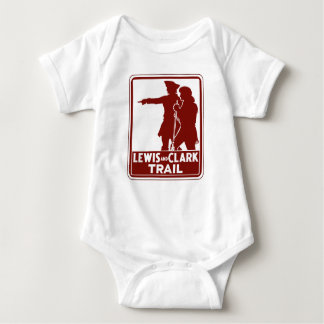 Lewis & Clark, Traffic Guide Sign, USA Baby Bodysuit