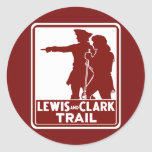 Lewis & Clark, Traffic Guide Sign, USA Classic Round Sticker