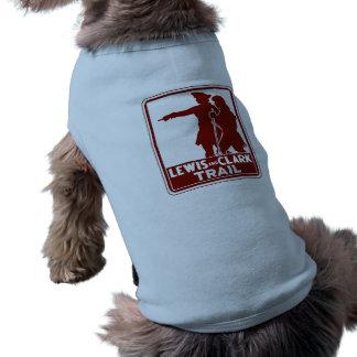 Lewis & Clark, Traffic Guide Sign, USA Dog T-shirt