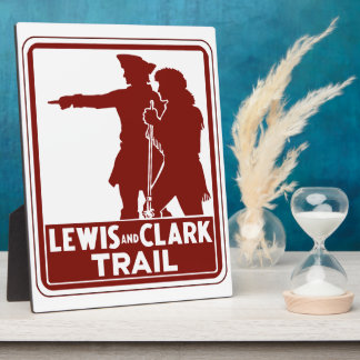 Lewis & Clark, Traffic Guide Sign, USA Plaque