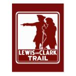 Lewis & Clark, Traffic Guide Sign, USA Postcard