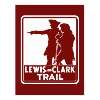 Lewis & Clark, Traffic Guide Sign, USA Postcard