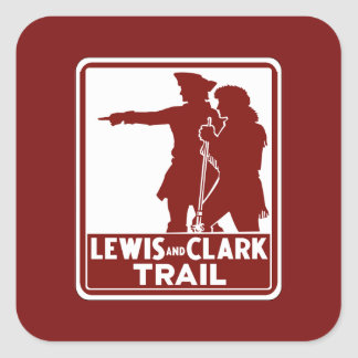 Lewis & Clark, Traffic Guide Sign, USA Sticker