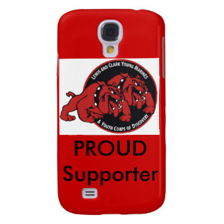 Lewis & Clark Young Marines Proud Supporter (Red) Samsung Galaxy S4 Covers