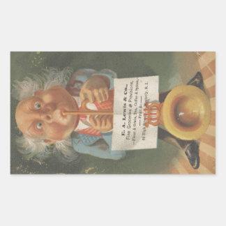 Lewis & Co. Fine Groceries Ephemera Rectangular Sticker