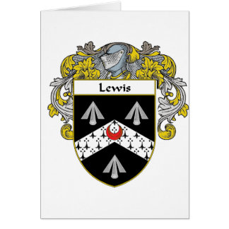 Lewis Coat of Arms (Mantled) Card