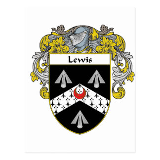 Lewis Coat of Arms (Mantled) Postcard
