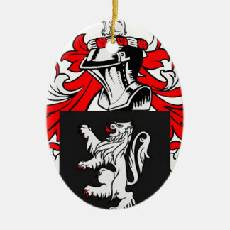 Lewis Coat of Arms Double-Sided Oval Ceramic Christmas Ornament