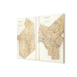 Lewis, condados del Oneida Impresión En Lienzo