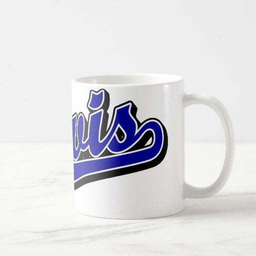 Lewis en azul taza de café