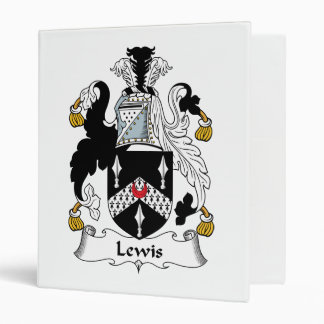 Lewis Family Crest 3 Ring Binders