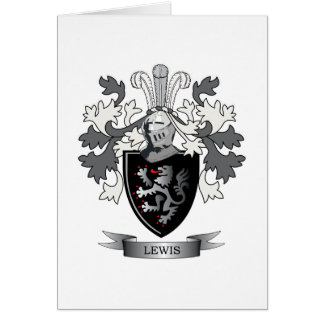 Lewis Family Crest Coat of Arms Card