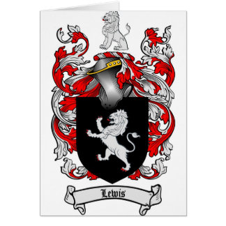 Lewis Family Crest - Lewis Coat of Arms Card