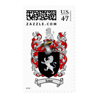 Lewis Family Crest - Lewis Coat of Arms Postage