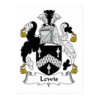Lewis Family Crest Postcard