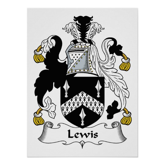 Lewis Family Crest Poster