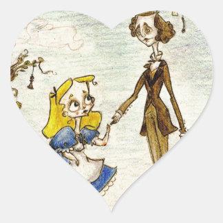 Lewis in Wonderland Heart Sticker