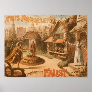 Lewis Morrison's Magnificent Faust Theatre Poster