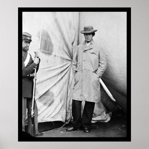 Lewis Payne, Lincoln Conspirator 1865 Print