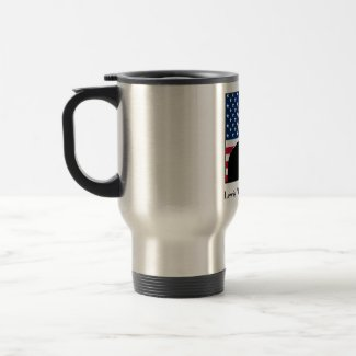 Lewis Puller and the American Flag mug