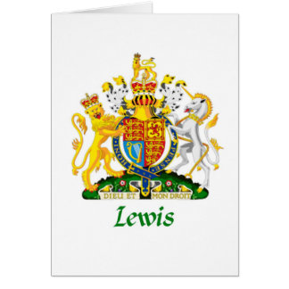 Lewis Shield of Great Britain Card