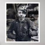Lewis Wickes Hine - el retrato de Tipple al muchac Posters