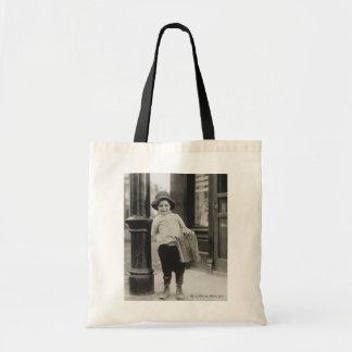 Lewis Wickes Hine - Newsboy in St. Louis, Missouri Tote Bag